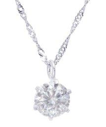 JEWELRY SELECTION/PT 天然ダイヤモンド 0.3ct 厳選 6本爪ネックレス Pt850スクリューチェーン40cm/502936538