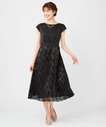 anySiS/【洗える】フルールレースプリーツ ドレス/502938013