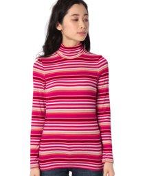 BENETTON (women)/マルチボーダーテレコハイネックロングTシャツ・カットソー/502675771