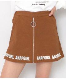 ANAP GiRL/リングジップ裾ロゴスカパン/502853370