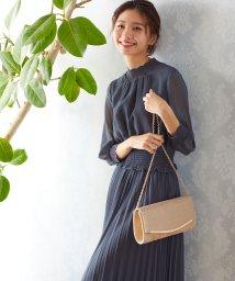 VitaFelice/ロング丈シフォンフリルワンピースドレス/502902061