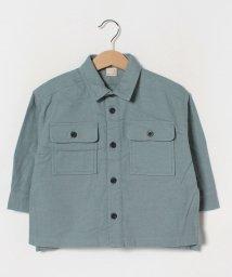 petit main/起毛 胸ポケットシャツ/502921229