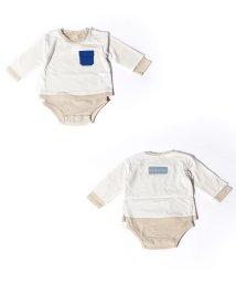 petit main/オーガニックコットン Tシャツ重ね着風ロンパース/502930429
