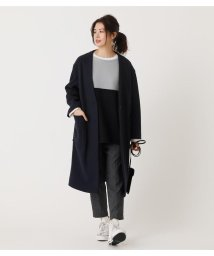 AZUL by moussy/COLLARLESS MIDY COAT/502938321