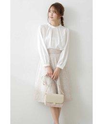 PROPORTION BODY DRESSING/◆フラワーエンブロイダリーフレアスカート/502938391