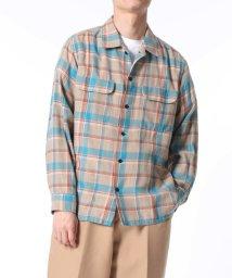 ADAM ET ROPE'/〈コットン100%〉チェック オープンカラーシャツ/502938453
