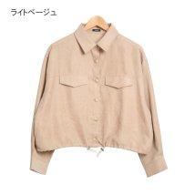 Rejoule/2020新作♪ライスコーデュロイ 裾ドロストショートシャツジャケット/502938800