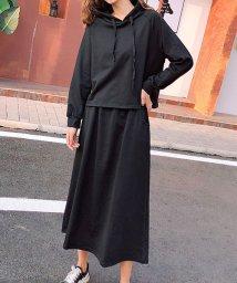 shoppinggo/セットアップ 上下セット パーカー スカート 大きいサイズ おしゃれ 着痩せ/502938949