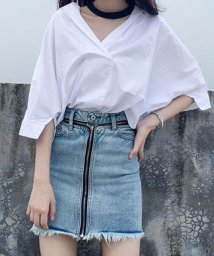shoppinggo/シャツトップス レディースブラウス オフィス カットソー ワイシャツ 白シャツ/502939000