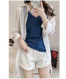 shoppinggo/ロングカーディガン レディス 涼しい 冷感 速乾 UVカット 薄手 シンプル ロングシャツ/502939001