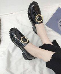 shoppinggo/パンプス レディース オックスフォードシューズ ローヒール 定番靴 大人 カジュアル エナメル調/502939012