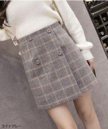 shoppinggo/スカート レディース?チェック柄 台形スカート Aライン ミニスカート インナーパンツ付き バックファスナー/502939022