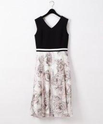 GRACE CONTINENTAL/ローズ刺繍ドレス/502942526