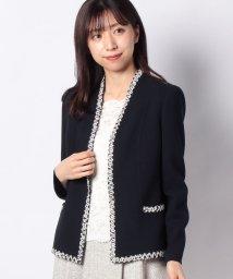 Leilian PLUS HOUSE/【STEFANONI】異素材配色ジャケット/502884882