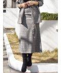 MERCURYDUO/ベルト付ラップ風セミAラインスカート/502902533