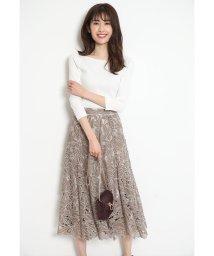 Rirandture/シアーカットワーク刺繍スカート/502930249