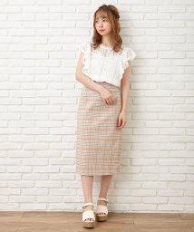 INGNI/サス付チェック柄ナロースカート        /502935962