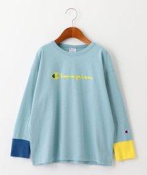 green label relaxing (Kids)/【ジュニア】〔別注〕CHAMPION(チャンピオン)マルチリブ ロングスリーブTシャツ/502938623