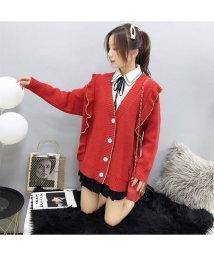 shoppinggo/ニットカーディガン レディース ボタン 長袖 コート トップス アウター ゆったり 羽織り/502938991
