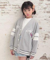 SISTER JENNI/ロゴ刺繍ローズワッペンVネックカーデ/502941168