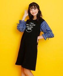 JENNI belle/ミニ裏毛袖チェックワンピ/502941188