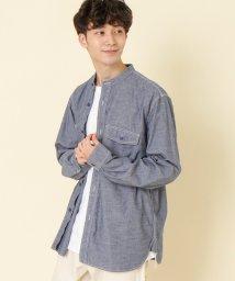 coen/カラーネップバンドカラーシャツ/502942695