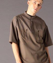 coen/異素材切替バンドカラーポロシャツ(セットアップ対応)(UTILITY LINE)/502942699