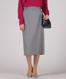 VICKY/【WEB別注】ベルト付きチェックタイトスカート/502942765