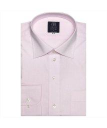 BRICKHOUSE/ワイシャツ 長袖 形態安定 ワイド ピンク×斜めストライプ織柄 標準体/502943129