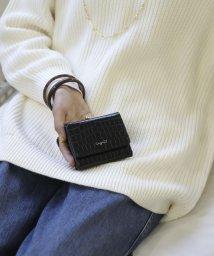 UNGRID bag/シャイニースモールクロコがま口財布/502943338