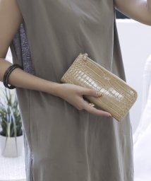 UNGRID bag/シャイニースモールクロコ L字長財布/502943339