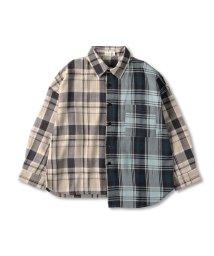 branshes/切替えチェック長袖シャツ(90~150cm)/502943625