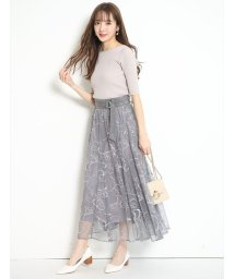 Rirandture/NEWドローイング刺繍チュールスカート/502943760