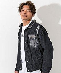 CavariA/CavariA【キャバリア】バックプリントバラ刺繍ビッグシルエットデニムジャケット/502944130
