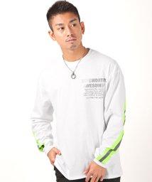 LUXSTYLE/リフレクタータイプBIGロンT/ロンT メンズ 長袖Tシャツ ビッグシルエット リフレクター/502944794