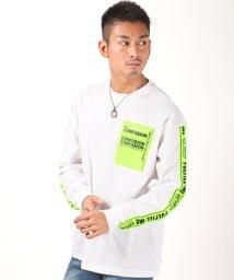 LUXSTYLE/蛍光ラインBIGロンT/Tシャツ メンズ ロンT ビッグシルエット プリント BITTER ビター系/502944795