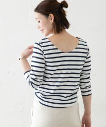 URBAN RESEARCH ROSSO/Le minor <別注>BACK Vボーダーカットソー/502945594