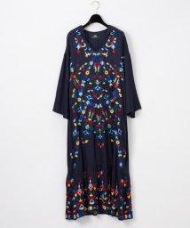 GRACE CONTINENTAL/フード刺繍ロングワンピース/502945779