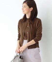 Demi-Luxe BEAMS/Demi-Luxe BEAMS / シルク クルーネックカーディガン/502327482