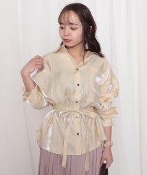 Cheek/サテンBIGシャツ/502829557
