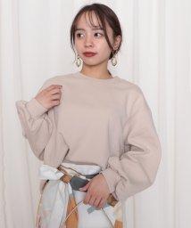 Cheek/ミニ裏毛ショート袖ボリュームプルオーバー/502881309