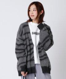 LASUD/[RADIATE]ゼブラ柄ニットカーディガン/502927247