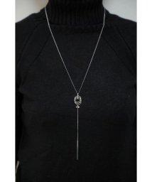 ホンキートンク/3リング、ラインストーン&バー アウターネックレス (オリジナル巾着付)/502932975