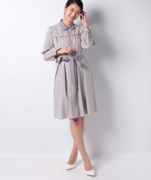 axes femme/ヨークバラ刺繍ワンピース/502933921