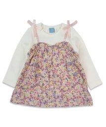 ILEAIYE/花柄キャミ付きTシャツ/502933970