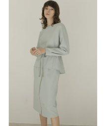 TONAL/【アナウンサー着用ウェストマークブラウスxZIPタイトスカート SET/502934049