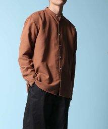 ADAM ET ROPE'/ワッフル バンドカラーシャツ/ビッグシルエット/502943533