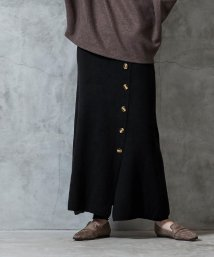 miette/フェイクラップ台形ニットスカート/502946704
