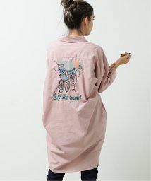 DOUBLE NAME/サイクリングバック刺繍シャツワンピース/502946981