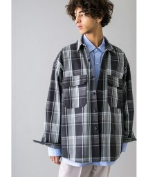 monkey time/<monkey time> HEAVY CHECK TWILL OVER SIZED CPO/チェックシャツ/502947952
